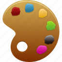 art, brush, color, design, graphic, paint, palette, tool, tools icon