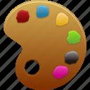 art, brush, paint, palette, tool, tools icon
