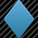 draw, filled, rhombus, shape icon