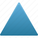 draw, filled, shape, triangle icon