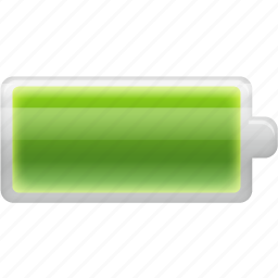 battery, cell, electric, electricity, energy, full, recycle icon