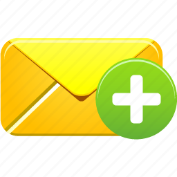 add, email, envelope, letter, mail, new, plus icon