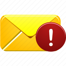 Alert Attention Email Error Letter Mail Warning Icon