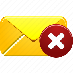close, delete, email, envelope, letter, mail, remove icon