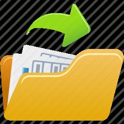 document, file, open, paper icon