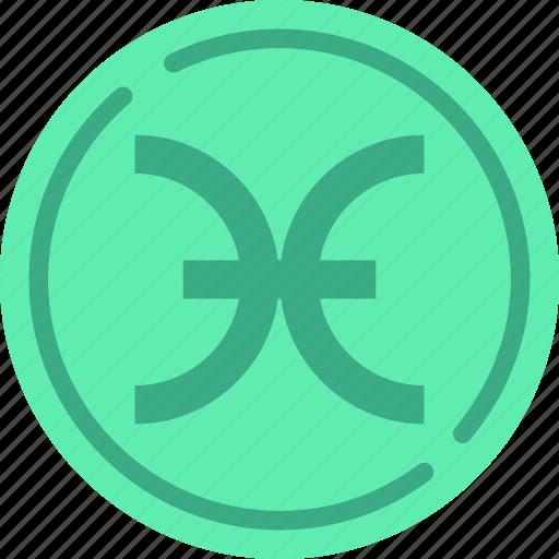 astrology, esoteric, magic, pisces, zodiac icon