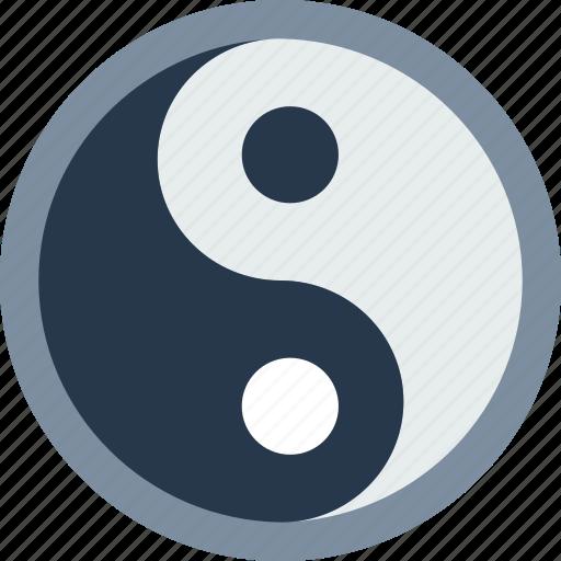 astrology, esoteric, magic, yang, yin, zodiac icon