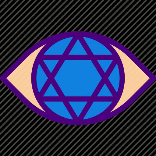 all, astrology, esoteric, eye, magic, seeing, zodiac icon