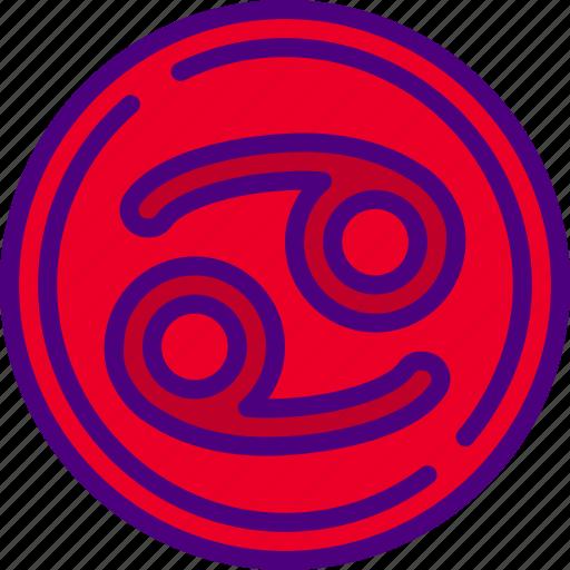 astrology, cancer, esoteric, magic, zodiac icon