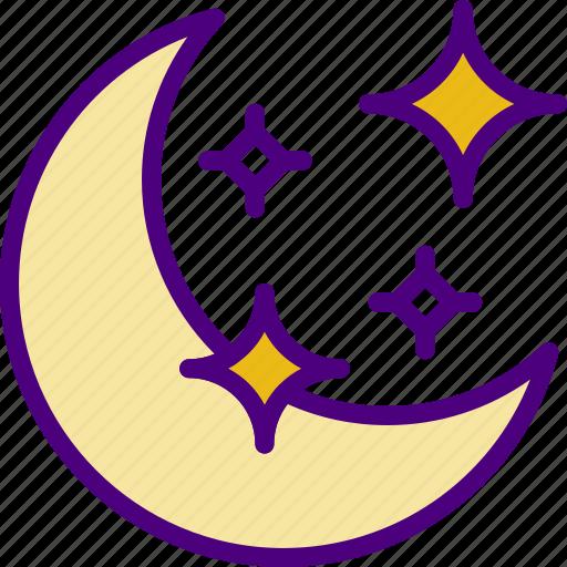astrology, esoteric, magic, moon, zodiac icon