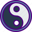 astrology, esoteric, magic, yang, yin, zodiac icon