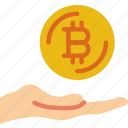 bank, bitcoin, crypto, give, money, shop icon