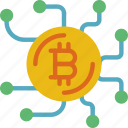 bank, bitcoin, crypto, link, money, shop icon