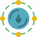 bank, crypto, ethereum, money, shop, web icon