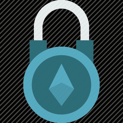 bank, crypto, lock, money, shop icon