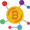 bank, bitcoin, crypto, money, network, shop icon