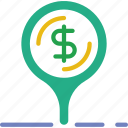 bank, crypto, location, money, shop icon