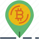 bank, bitcoin, crypto, money, pin, shop icon