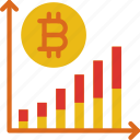 bank, bitcoin, chart, crypto, money, shop icon