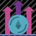 bank, chart, crypto, ethereum, money, shop icon