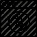 bank, bitcoin, crypto, money, shop, web icon