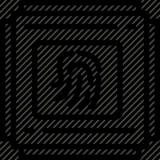 bank, crypto, fingerprint, money, sensor, shop icon