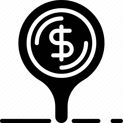 bank, crypto, location, money, shop icon