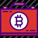bank, bitcoin, crypto, money, shop, suitcase icon