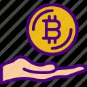 bank, bitcoin, crypto, give, money, shop icon