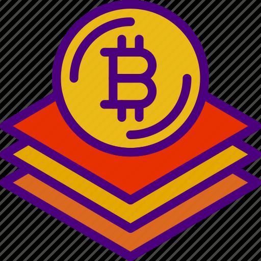 bank, bitcoin, blockchain, crypto, money, shop icon