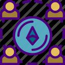 bank, crypto, ethereum, money, shop, web icon