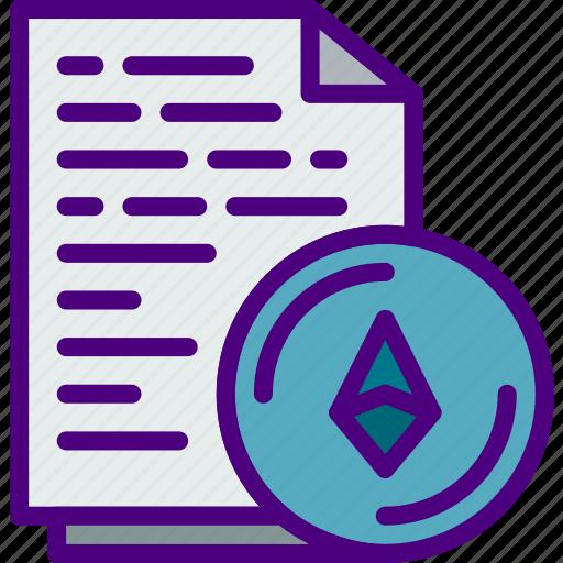 bank, certificate, crypto, ethereum, money, shop icon