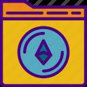 bank, crypto, ethereum, folder, money, shop icon