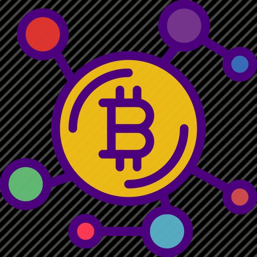 bank, bitcoin, crypto, money, network, shop icon