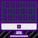 bank, binary, code, crypto, money, shop icon