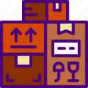delivery, package, packages, receive, track icon