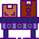belt, conveyor, delivery, package, receive, track icon