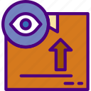 delivery, package, receive, securrity, track icon