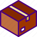 box, delivery, package, receive, track icon