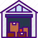 delivery, package, receive, track, warehouse icon