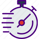 delivery, package, receive, time, track icon