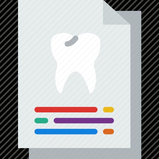 Dental, dentist, doctor, file, hospital, teeth icon - Download on Iconfinder