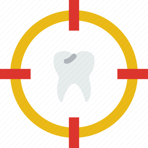 Dentist, doctor, hospital, target, teeth, tooth icon - Download on Iconfinder