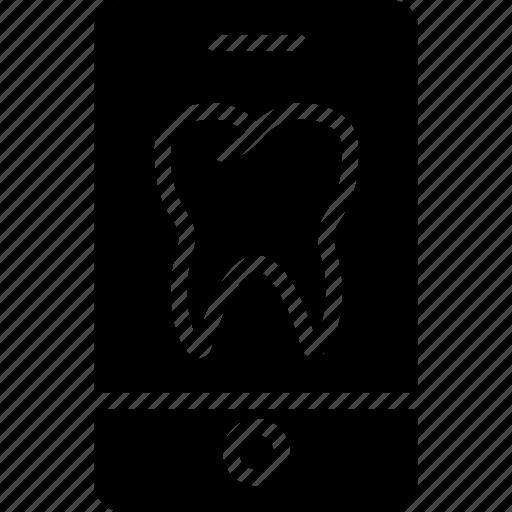 app, dental, dentist, doctor, hospital, teeth icon
