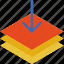 add, design, draw, illustration, layer icon
