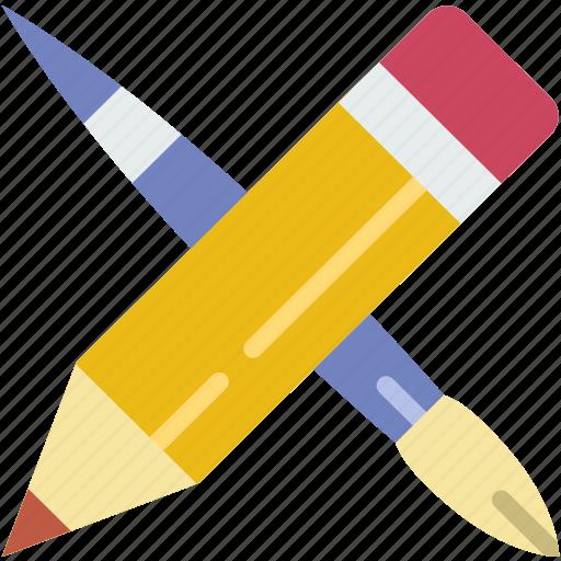 create, design, draw, illustration, tools icon