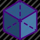 create, cube, design, draw, illustration icon