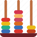 abacus, education, learn, school, teacher icon