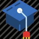 cap, education, graduation, learn, school, teacher icon