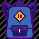 backpack, education, learn, school, teacher icon